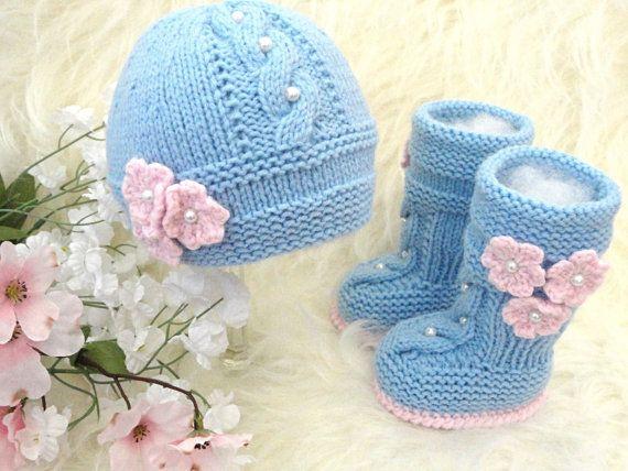 Tejer patrón bebé conjunto punto bebé sombrero bebé por Solnishko43 ...