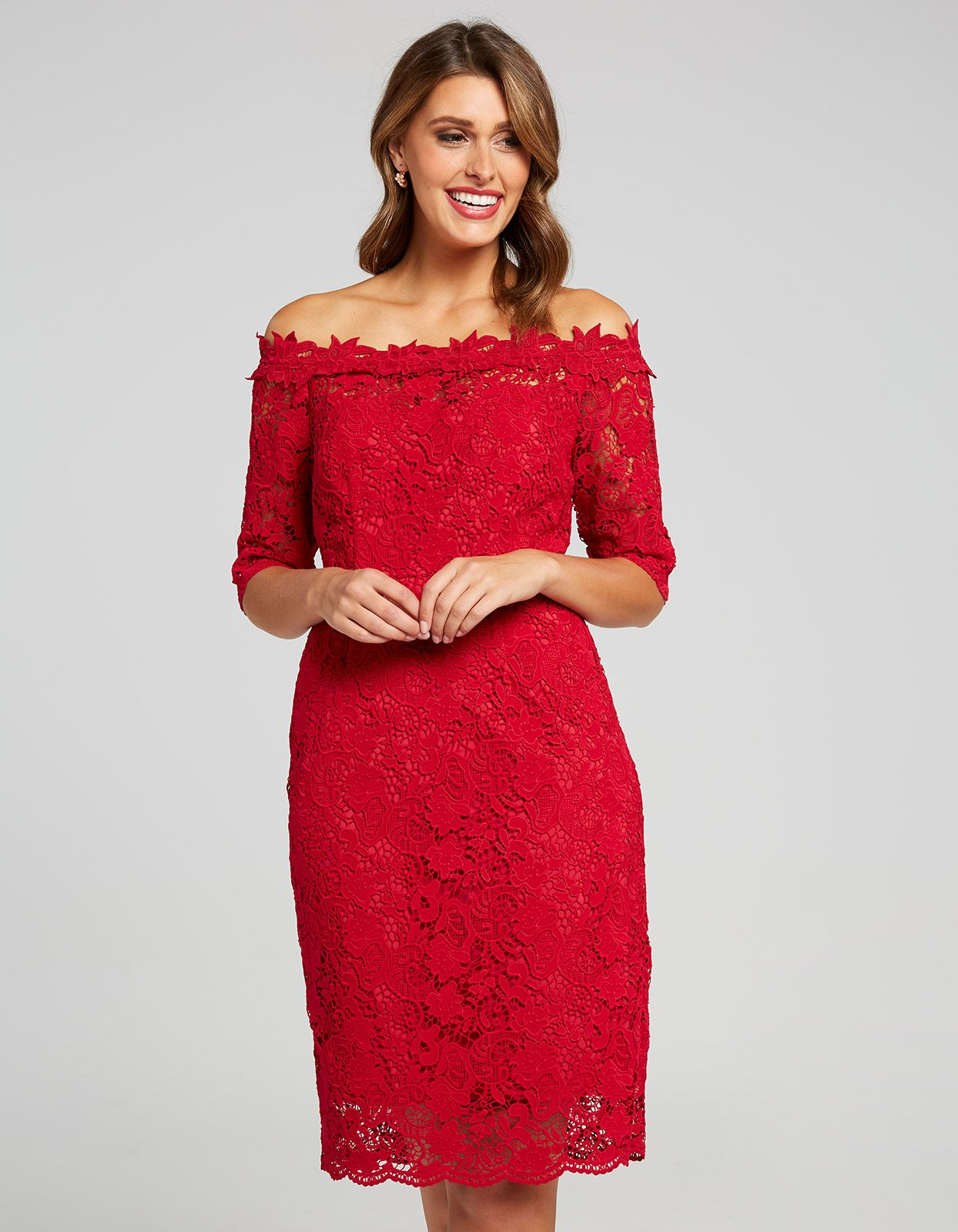 Image for Abby Off Shoulder Lace Dress