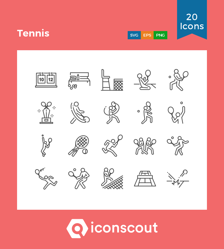 Download Tennis Icon Pack Available In Svg Png Eps Ai Icon Fonts Icon Pack Icon Font Icon