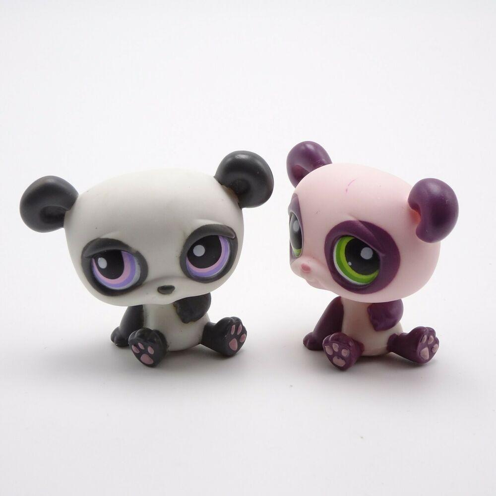 Littlest Pet Shop Panda Lot 353 Green Eyes 89 Purple Eyes Hasbro Little Pets Little Pet Shop Pet Shop