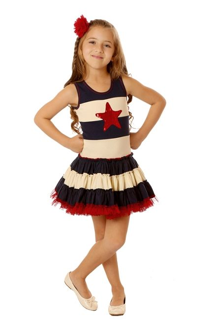 Ooh! La, La! Couture 4th Of July Sequin Star Dress *Preorder*