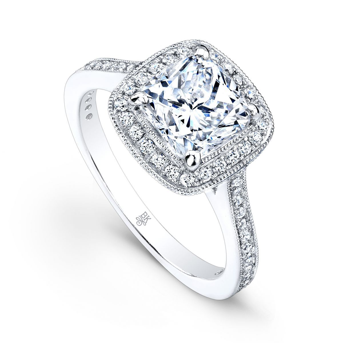 Beverley K Vintage Inspired Engagement Ring Featuring Beautiful Hand  Engraved Details And Diamond Accents This