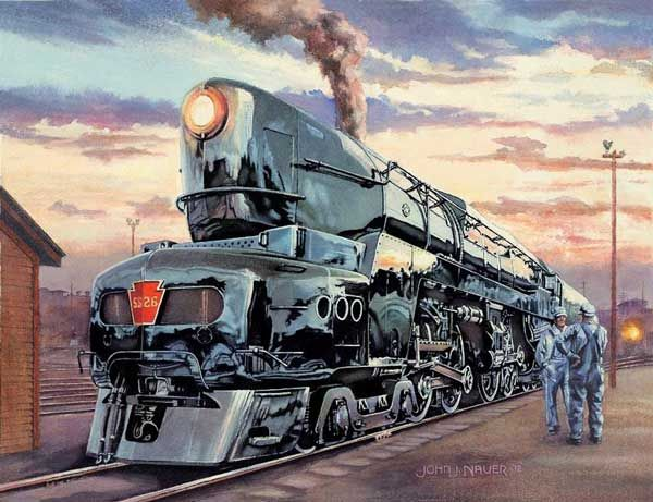 Broadway Limited Pennsylvania Railroad Poster Ray Lowey T-1 Train Art Print 032