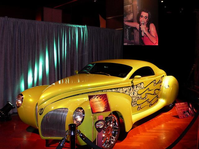 Billion Dollar Babies - Alice Cooper  Custom car based on 1939 Lincoln Zephyr. Guitars and Rock Stars II at the Ford Museum