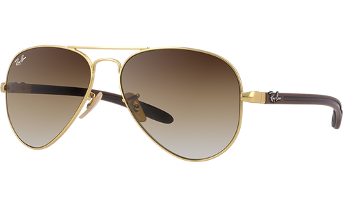 ebfbadd7d05 Ray-Ban Sunglasses Collection - Model Rb8307 - 002 N5 - Aviator Carbon Fibre