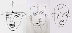 Alexander Calder wire portraits