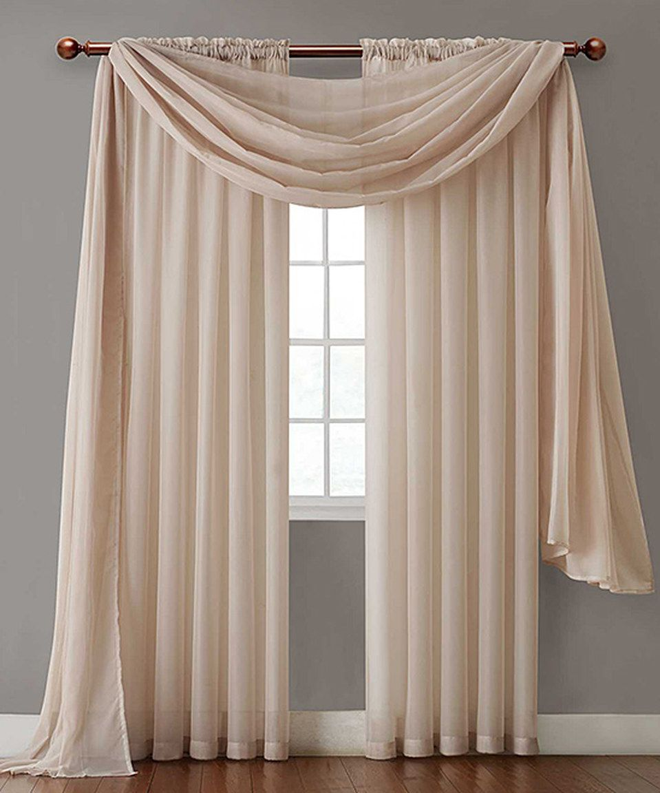 Zebra window coverings  look at this zulilyfind natural infinity sheer panel by victoria