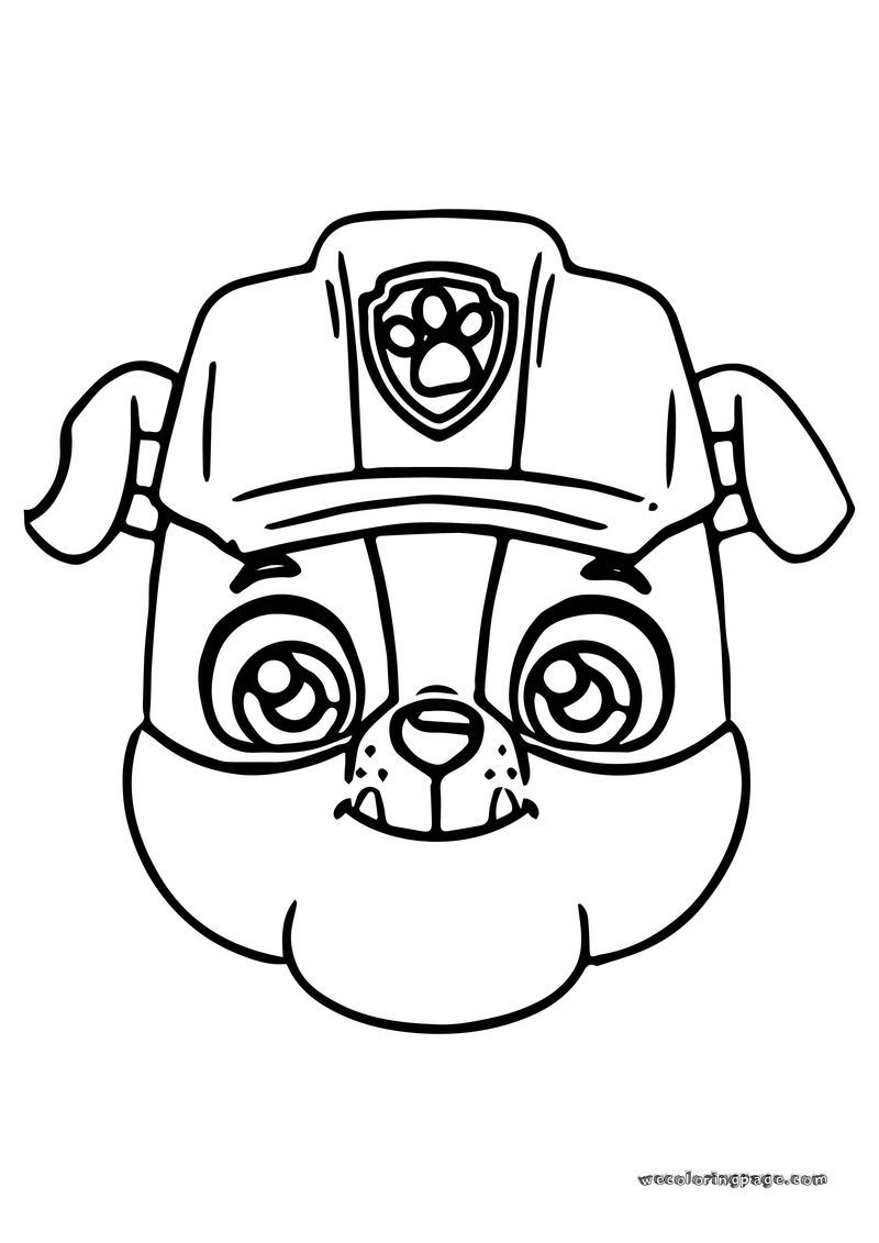 Paw Patrol Rubble Face Coloring Page. Also see the category ...