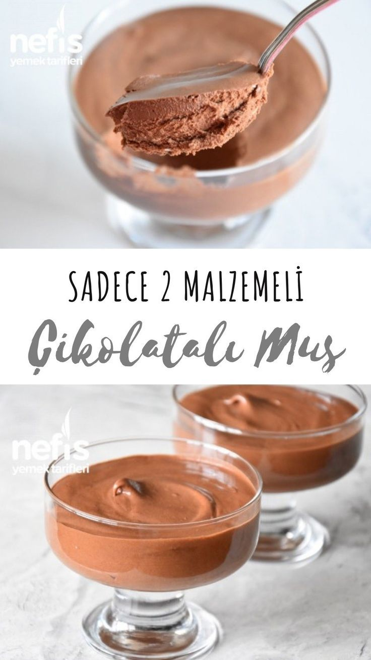 Chocolate Mousse With Only 2 Ingredients (With video) - Yummy Recipes - -