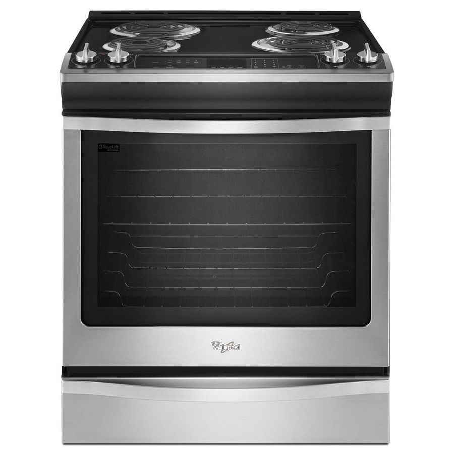 Electric kitchen stoves  Whirlpool SlideIn Electric Range Stainless Steel Common in