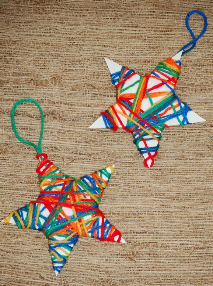 Christmas Crafts for Kids Yarn Wrapped Ornaments