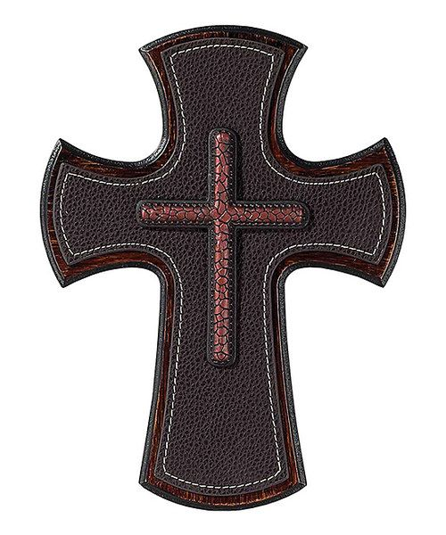 Look at this Leather Cross on #zulily today!