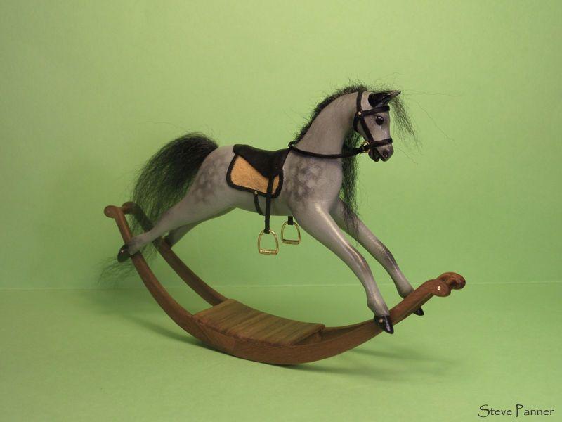 OOAK Miniature dollhouse rocking horse