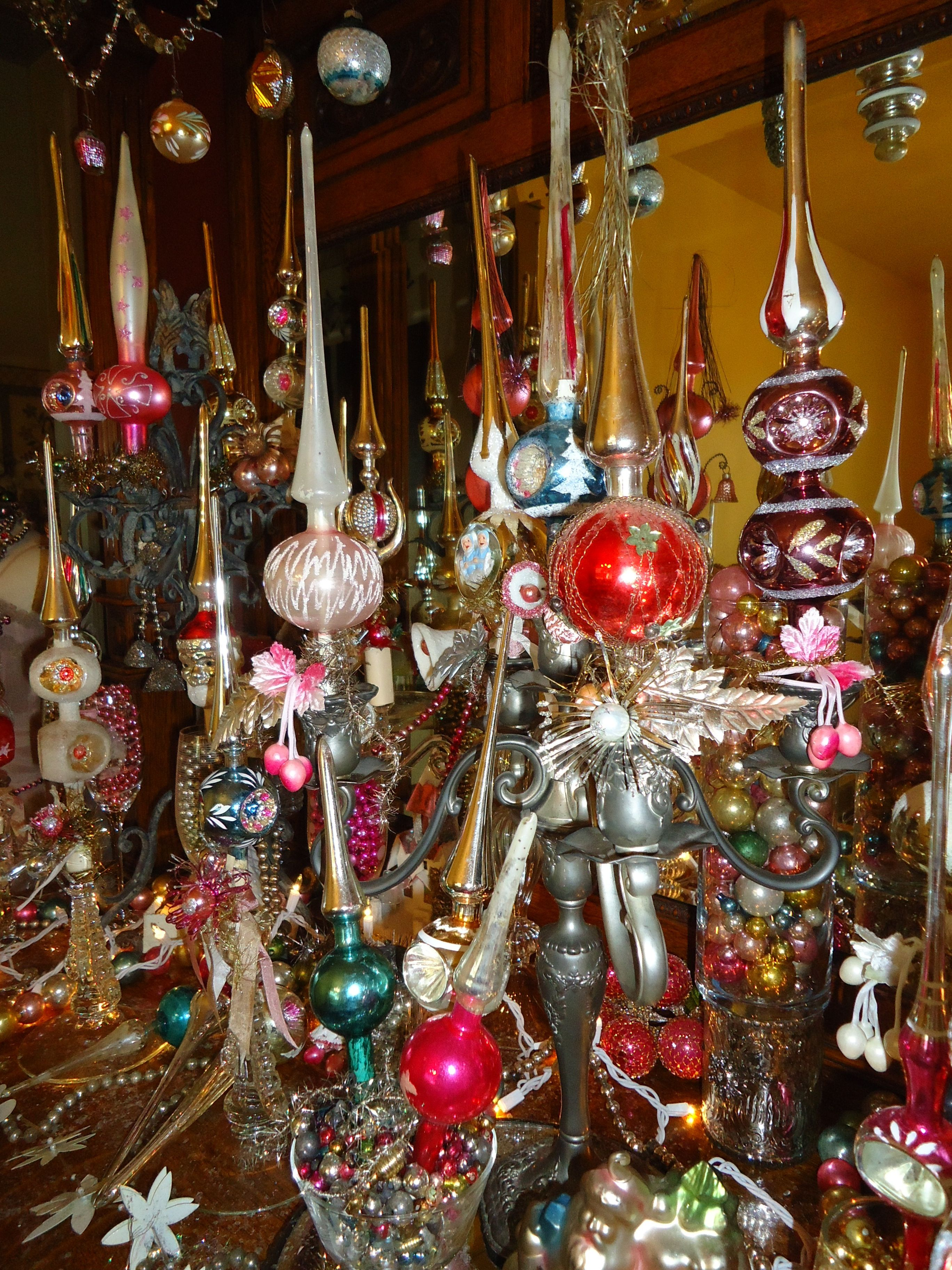 Lovely Old Mercury Glass Tree Topper Display, 2014 Christmas