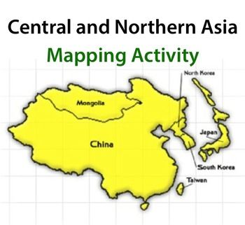 Central and Northern Asia Mapping Activity Map activities and Activities