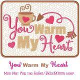 Warm Heart Mug Mat
