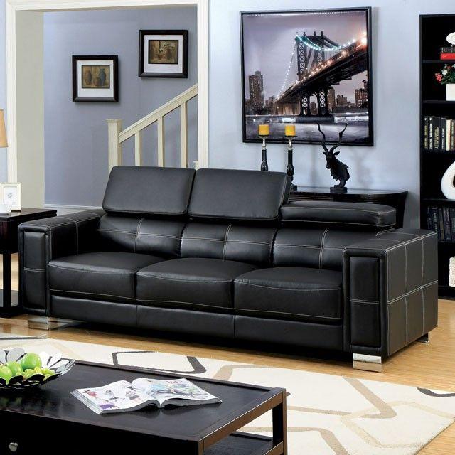 Leather Sofas Loveseats Furniture Of America Contemporary Sofa