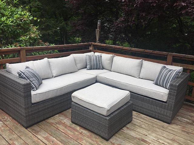 Peckham Park 4 Piece Outdoor Sectional Set By Ashley Homestore Tan