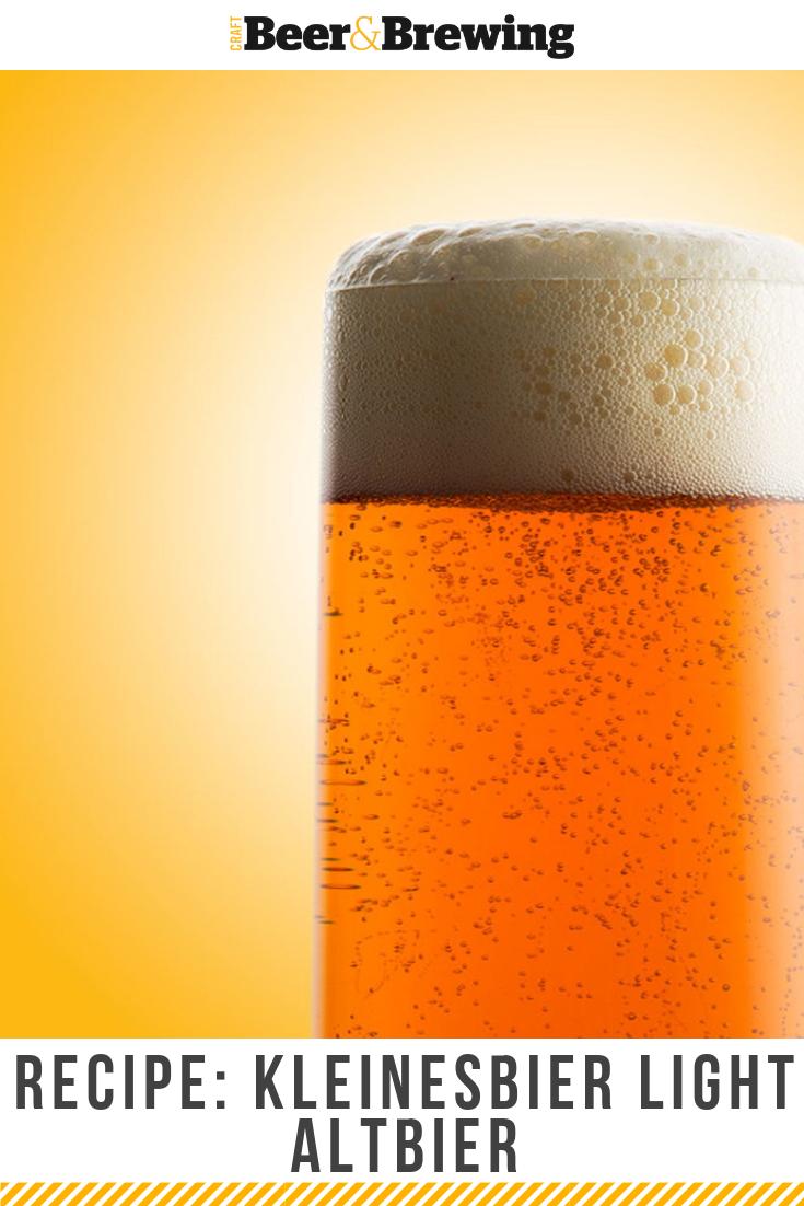 Recipe Kleinesbier Light Altbier Beer Brewing Recipes Craft Beer Recipes Homebrew Recipes