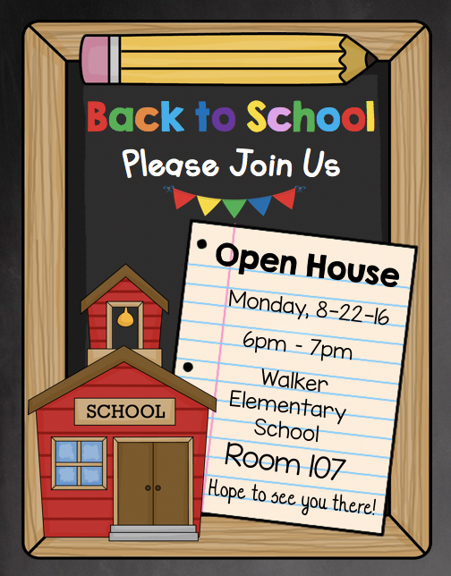 Open House Invitation Editable Back To School Meet The Teacher