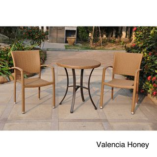 @Overstock - Bring home the chic looks of this stylish Barcelona Series Resin Wicker Aluminum Frame Bistro Set. This bistro set's square back chairs and Aluminum Frame Woven Table make it not only easy to love but also highly functional.  http://www.overstock.com/Home-Garden/Barcelona-28-inch-Round-Outdoor-Bistro-Set-with-2-Armchairs/7324465/product.html?CID=214117 $358.99