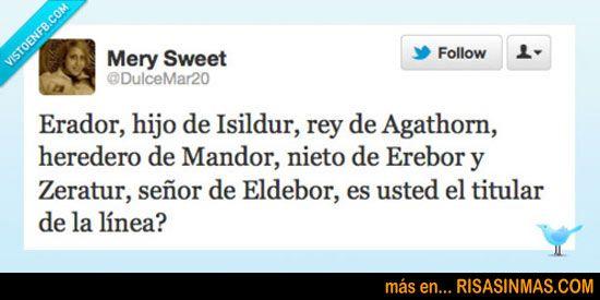 Erador, hijo de Isildur…  http://bit.ly/NjyASd