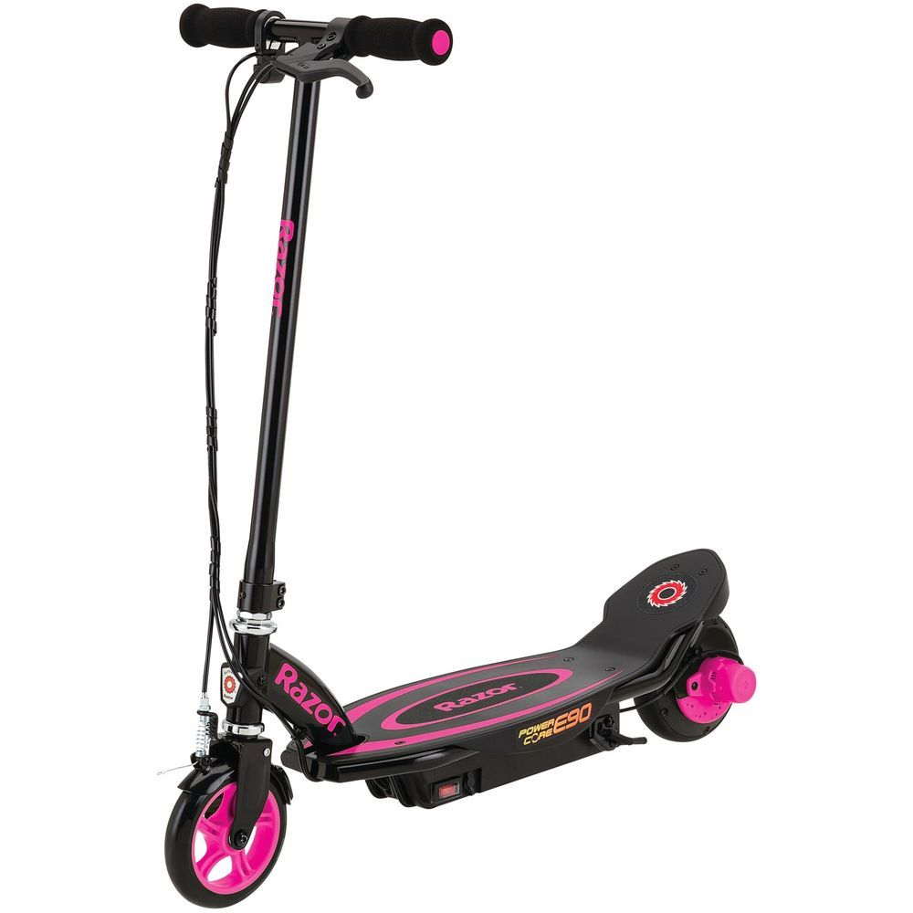 Girls Electric Scooter Pink Razor Power Core Ride On Light