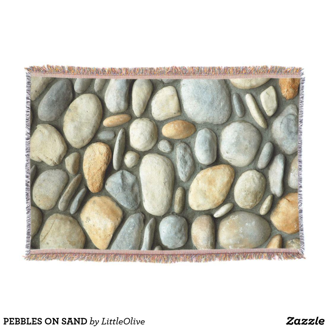 PEBBLES ON SAND THROW BLANKET Zazzle.co.uk Pebbles