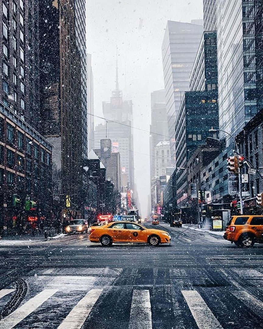 New York Usa New York City Christmas New York Snow Winter In New York