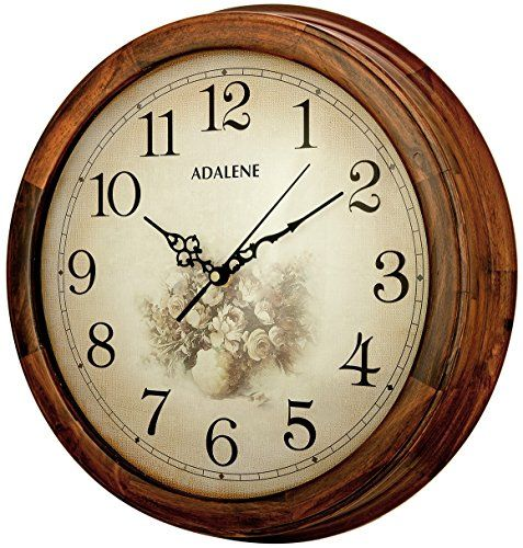 Adalene 14inch Wall Clock Large Decorative Living Room Clock Quiet Battery Operated Quartz Analog Silent White Wall Clocks Living Room Clocks Clock Wall Decor