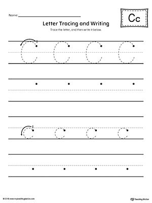 Letter C Tracing and Writing Printable Worksheet Printable - printable worksheet