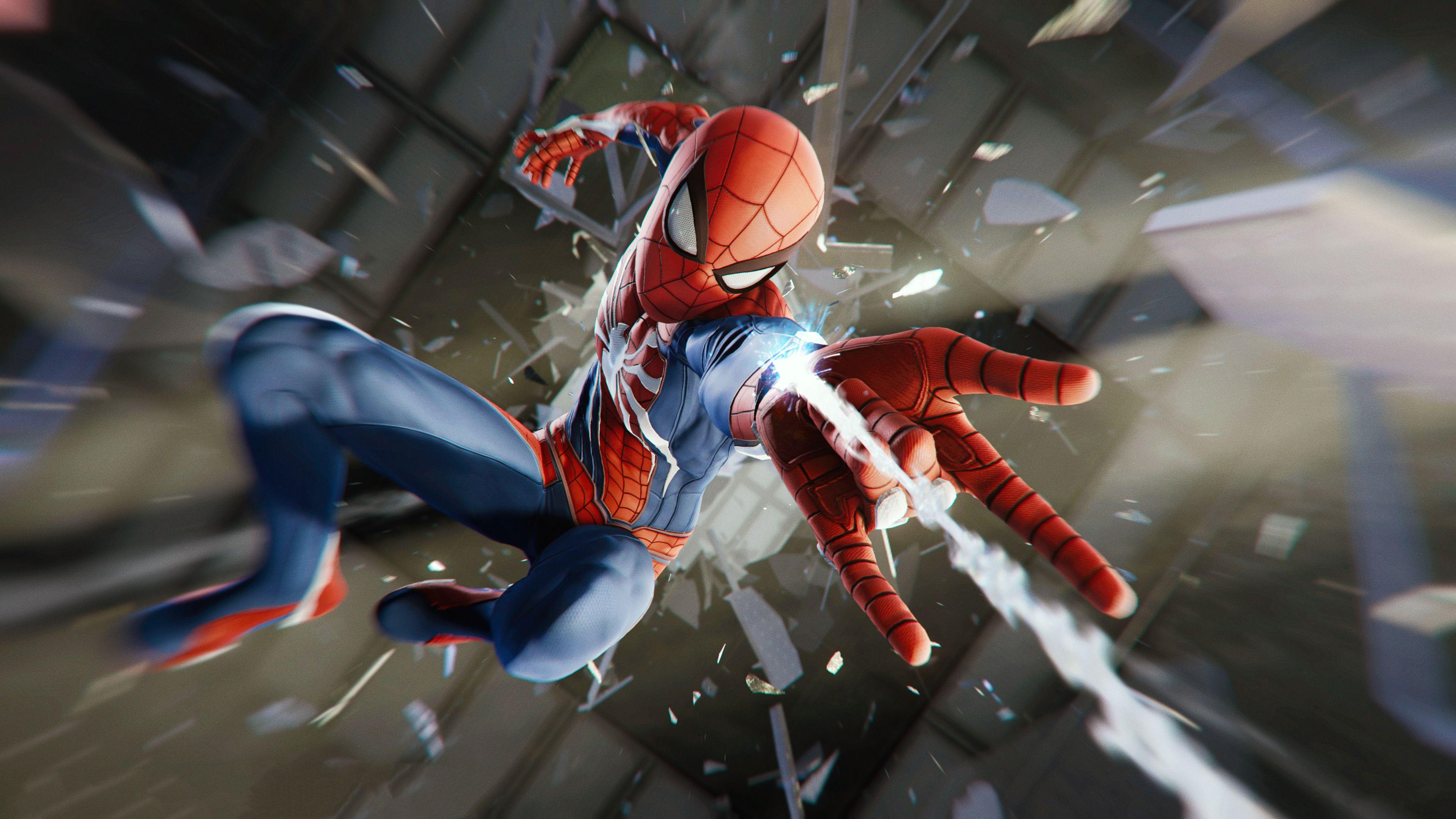 Spiderman Ps4 Game 4k superheroes wallpapers, spiderman
