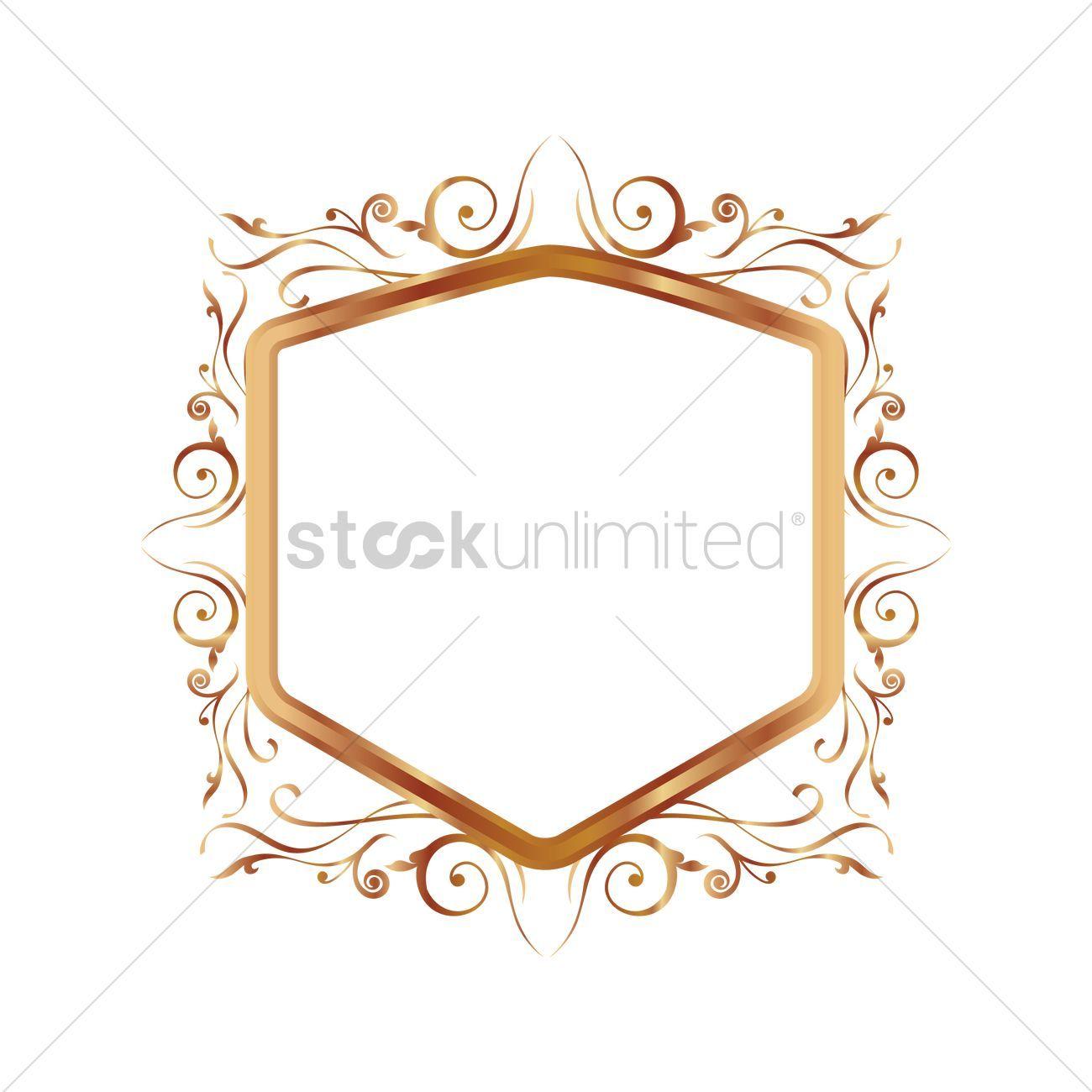 Golden vintage border vector illustration , #sponsored, #vintage, #Golden, #border, #illustration, #vector #affiliate
