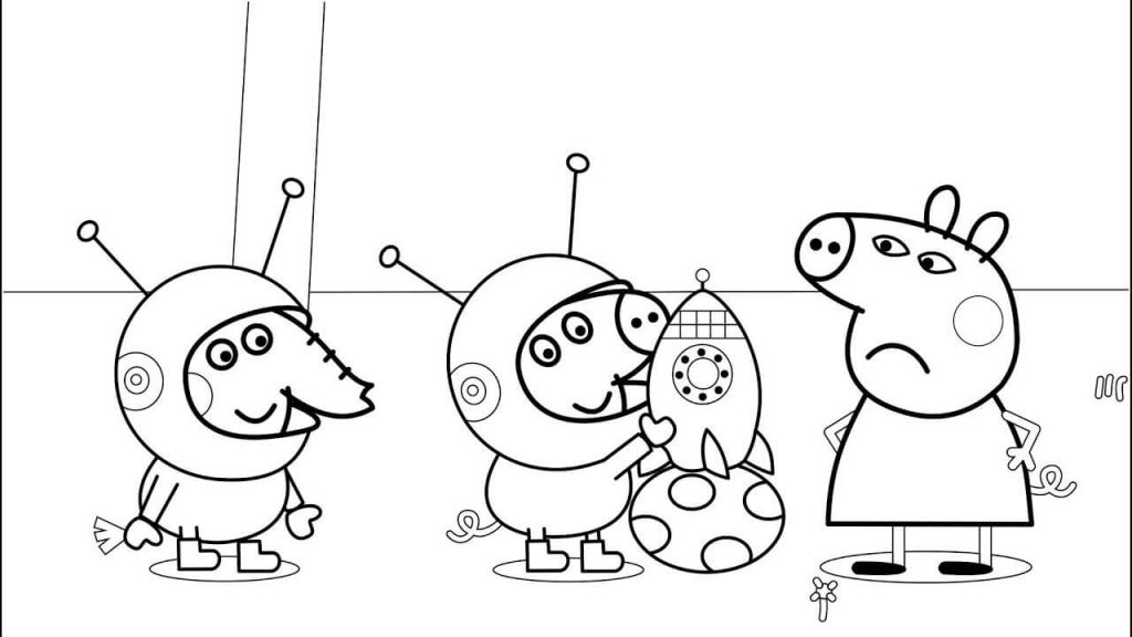 Peppa Pig George And Emily Elefante Coloring Page With Images Peppa Pig Coloring Pages Cartoon Coloring Pages Family Coloring Pages