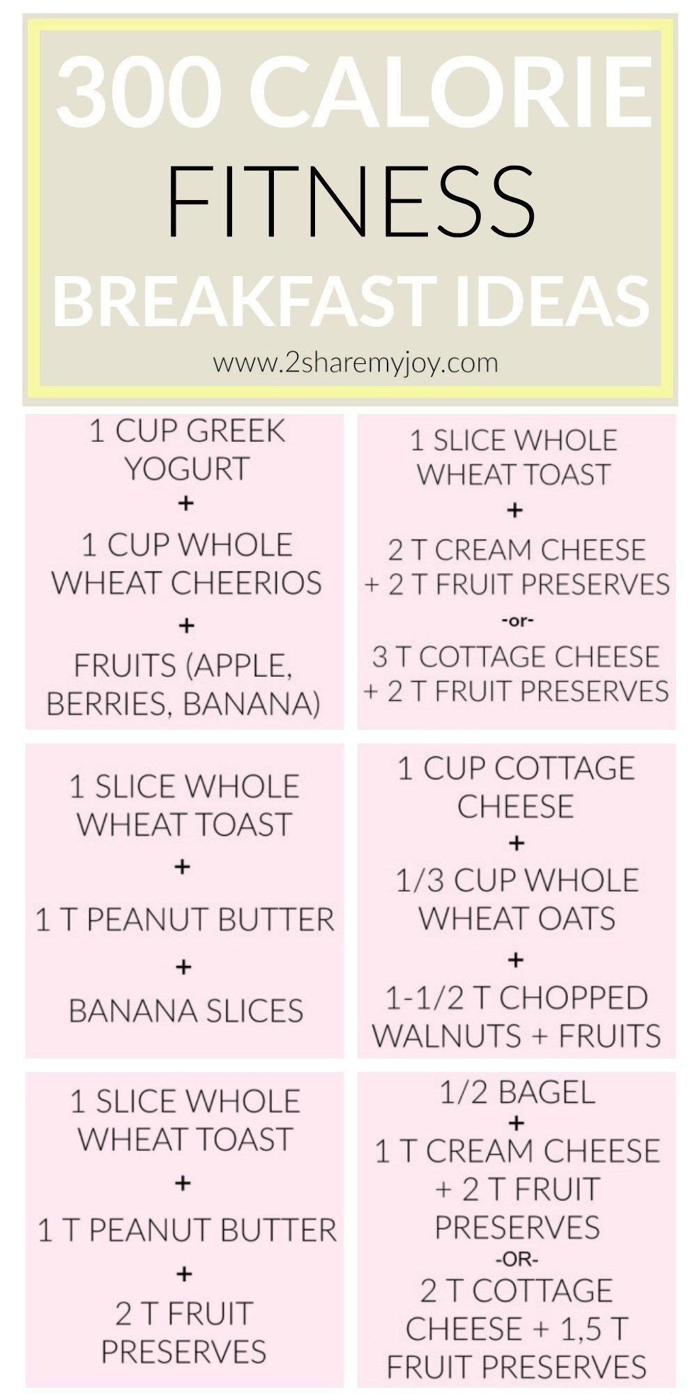 300 Calorie Breakfast Ideas for your healthy morning meal. They are easy Fitness meals that you can also eat for lunch or afternoon. #400caloriemeals