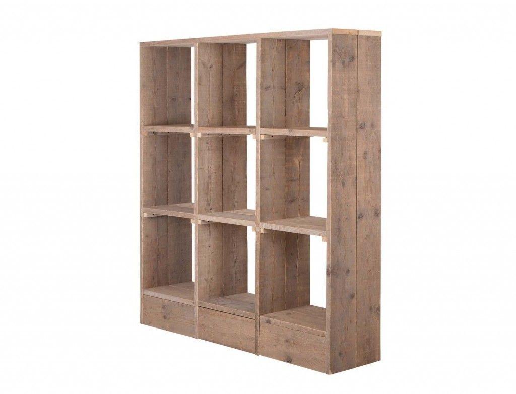 gemaakt naar de bouwtekening voor een steigerhout vakkenkast wandmeubel kast zonder deuren bouwtekening voor een vakkenkast van steigerhout