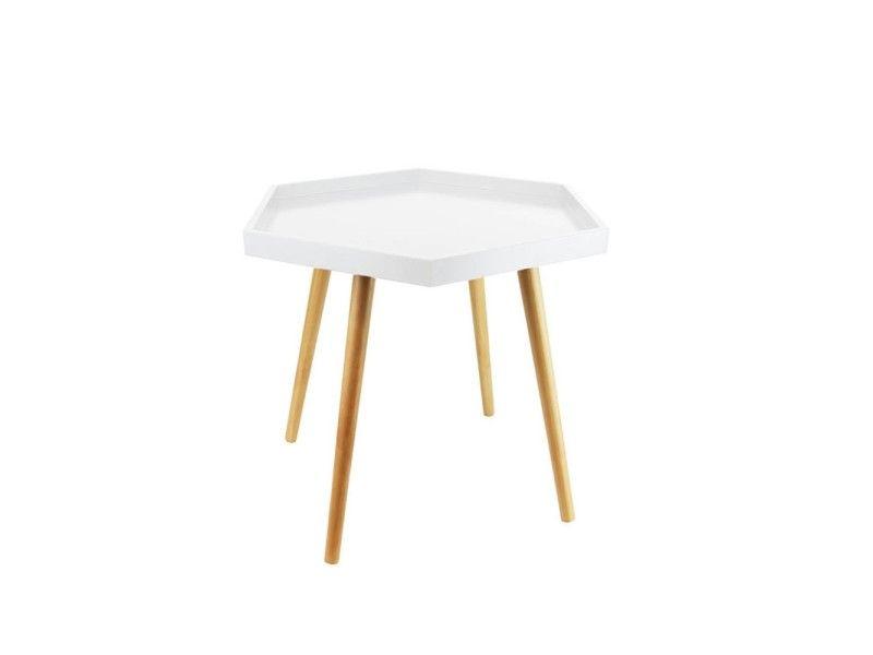 Table basse hexa blanc - pas cher ? Cu0027est sur Conforamafr - large