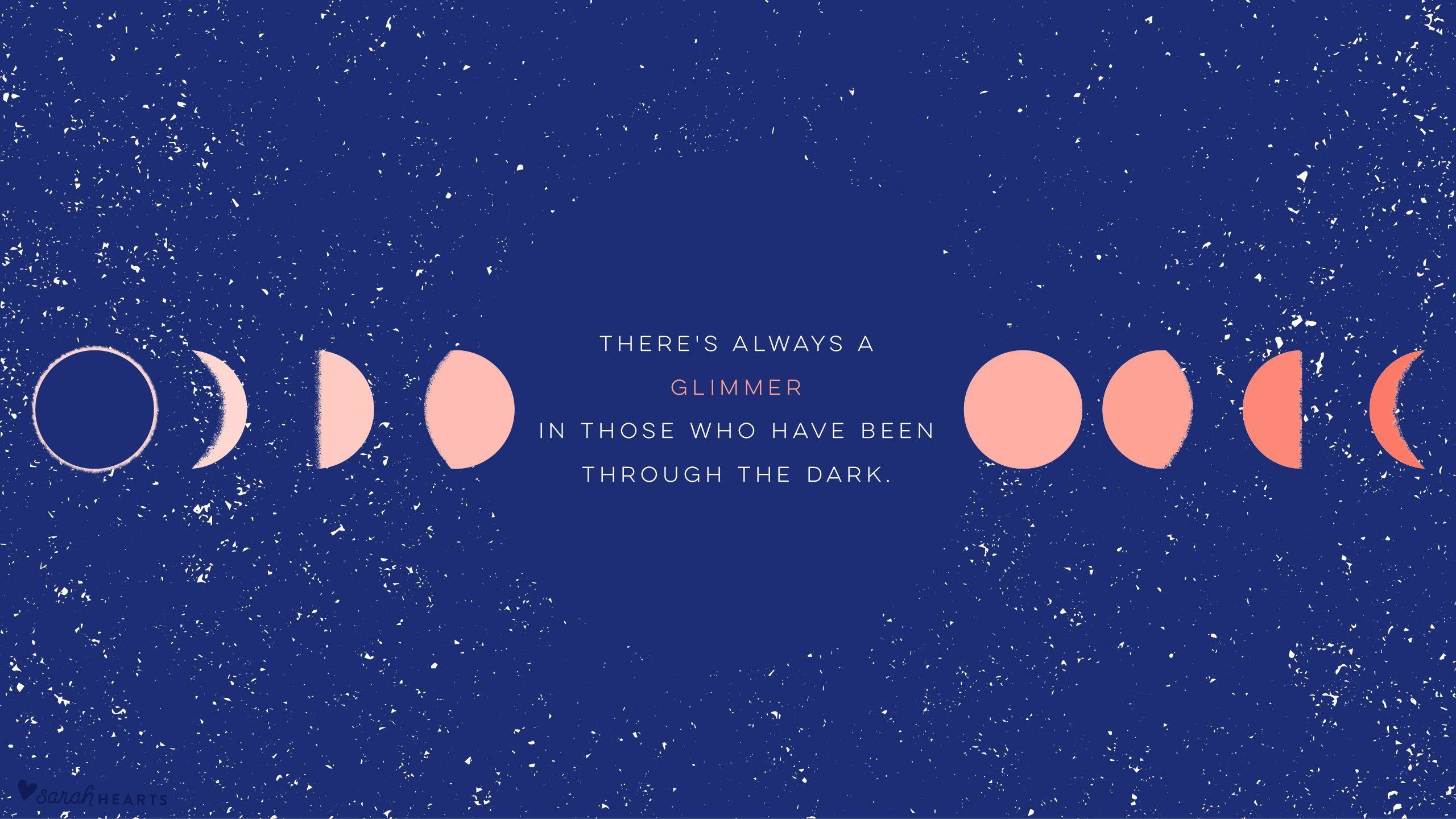 This Is A Laptop Background With A Space Theme And A Quote