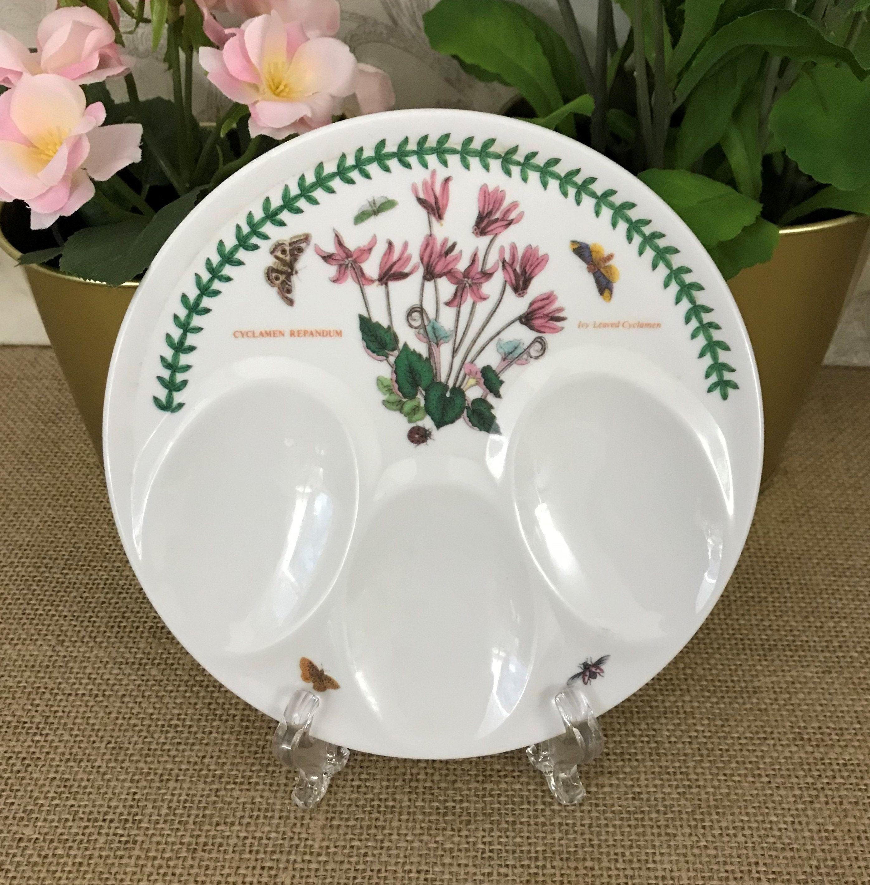 SPOON REST Stoneware White Flower Dish Handmade