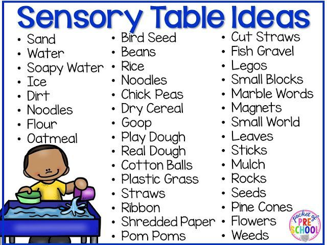 Infant Toddler Lesson Plan Themes Sensory Table Fillers Tools Sensory Table Preschool
