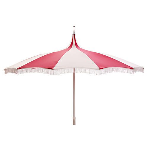 Ari Pagoda Fringe Patio Umbrella, Hot Pink/White | Get Outside For The  Summer | Pinterest | Patio Umbrellas, Patios And Balconies