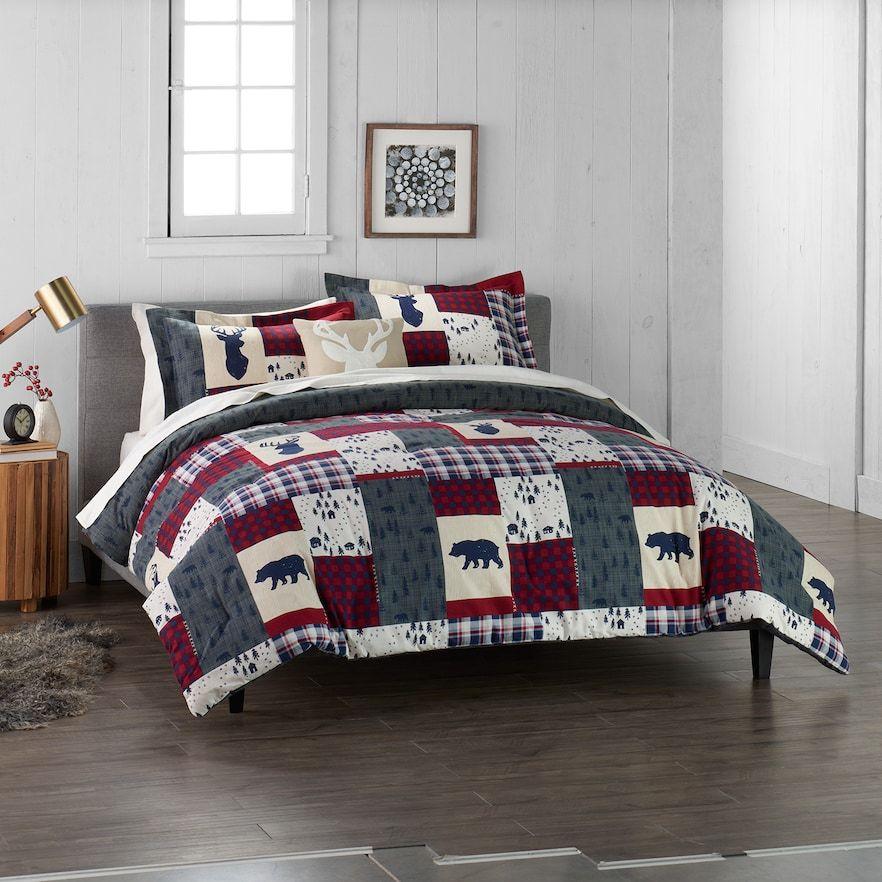 Cuddl Duds Home Patchwork 4 Piece Comforter Set Multicolor
