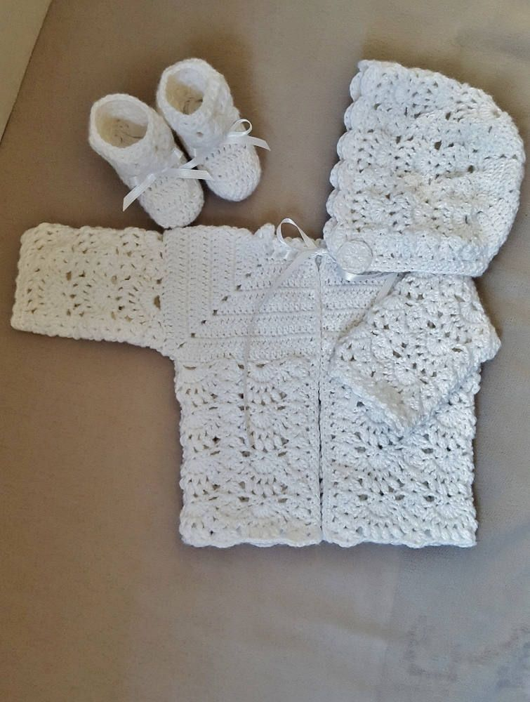 e9c07792b White Baby Sweater Set