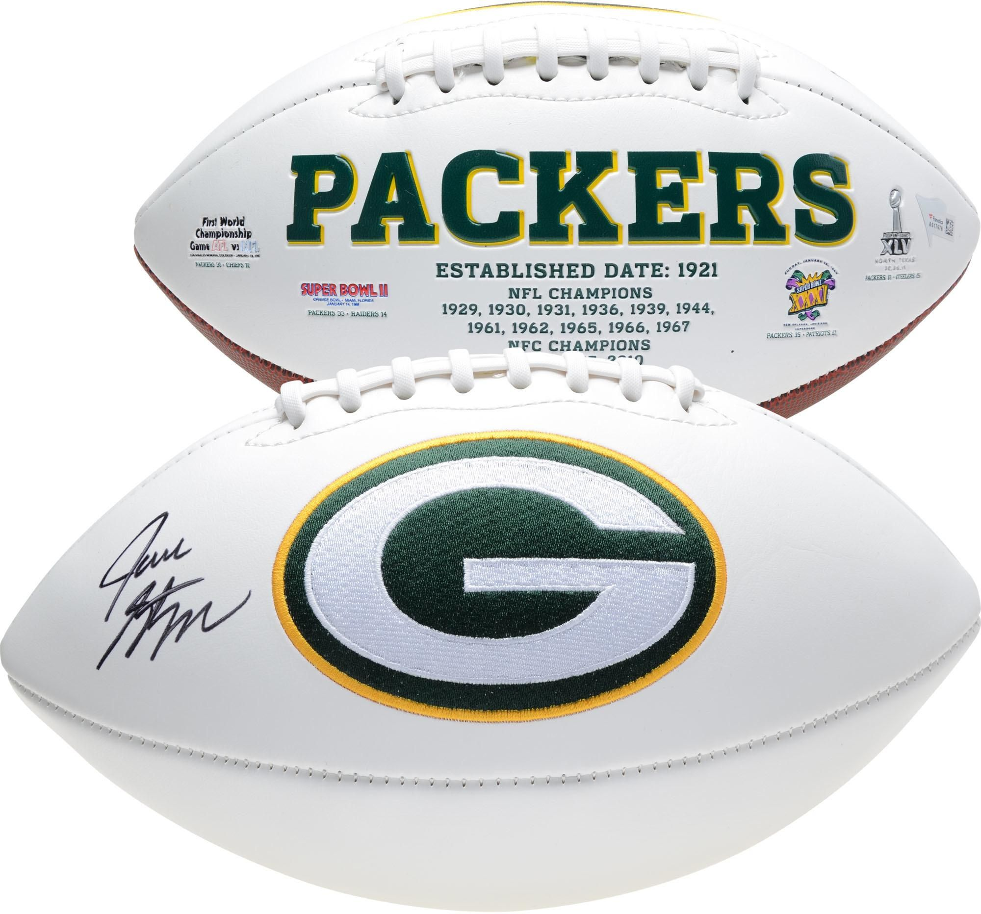 Jace Sternberger Green Bay Packers Autographed White Panel Football Football Green Bay Packers White Paneling