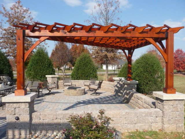 I Also Really Like This Corner Triangular Pergola Shape Pergola Plans Pergola Outdoor Pergola