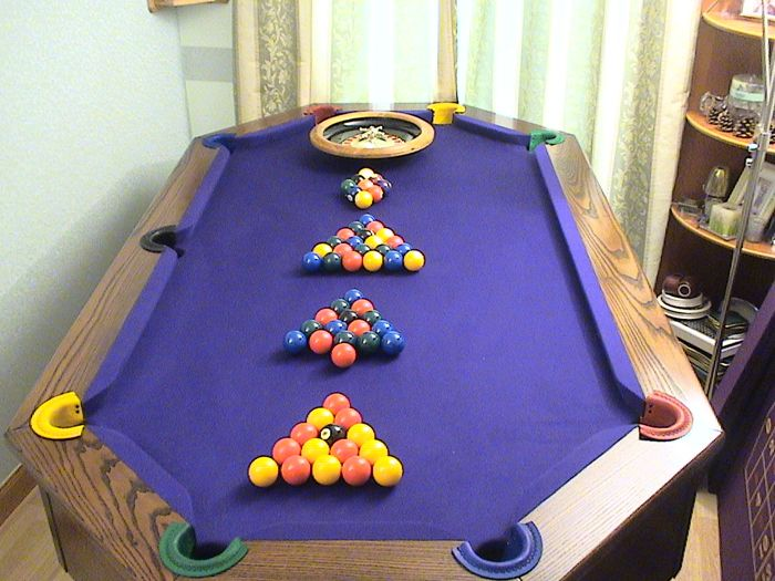 Charming Octagon Pool Table