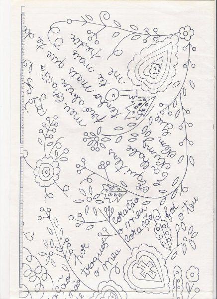 """Deixo aqui alguns esquemas retirados da revista """"ARTES E IDEIAS – BORDADOS TRADICIONAIS"""", para que possam fazer os vossos próprios lenços, ou então encomendar-me um lenço com um d…"""