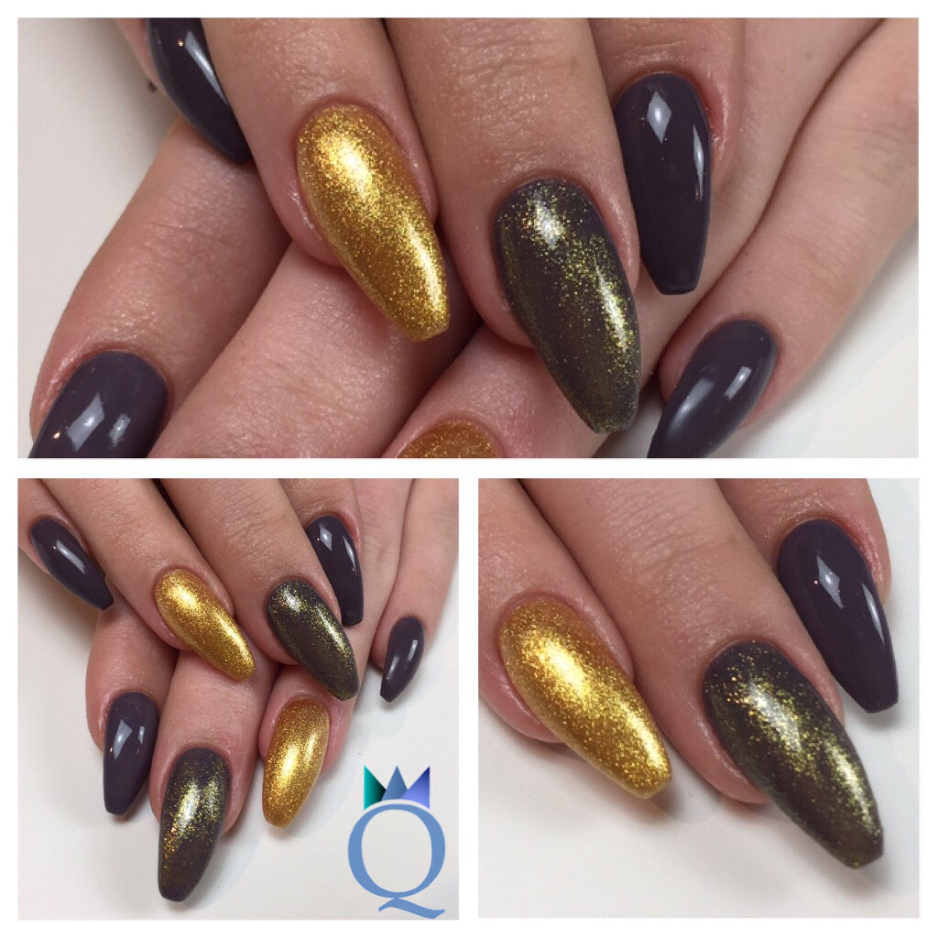 coffinnails #ballerinashape #gelnails #nails #anthracite ...