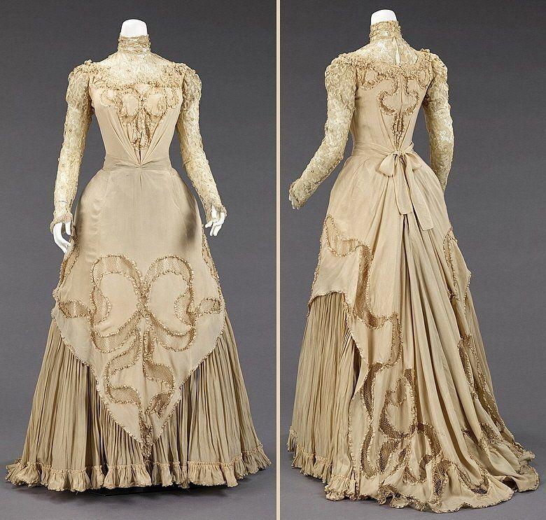 Ca 1890. Dress, Evening. Herbert Luey