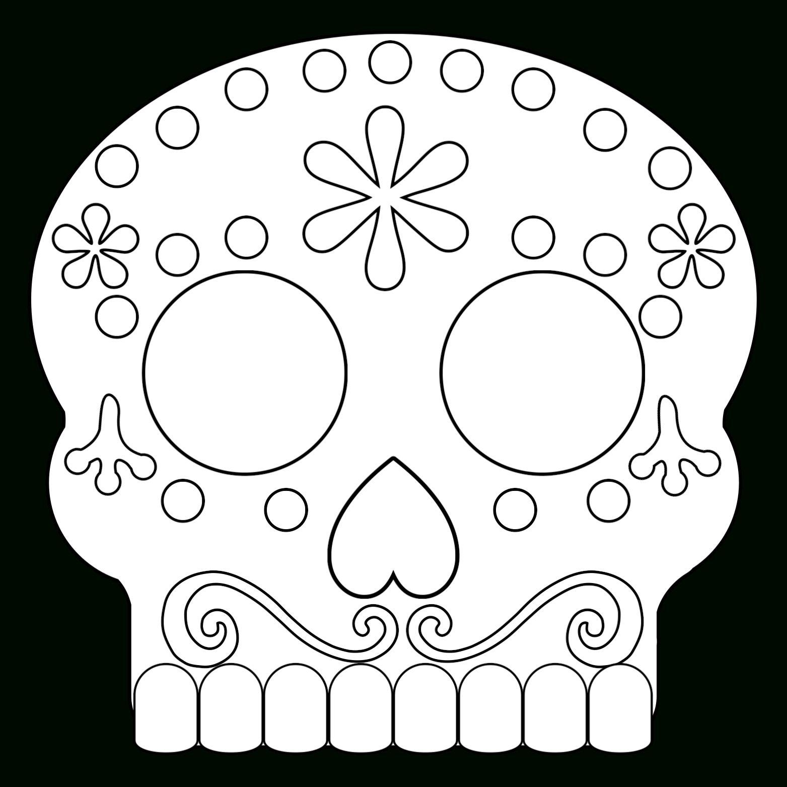 Day Of The Dead Masks Sugar Skulls Free Printable